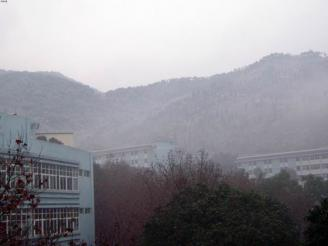 校园雪景一